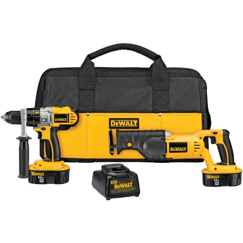DEWALT 18-Volt Hammerdrill/ Reciprocating Saw Combo Kit